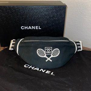 Authentic Chanel vinatge tennis bum bag fannypack